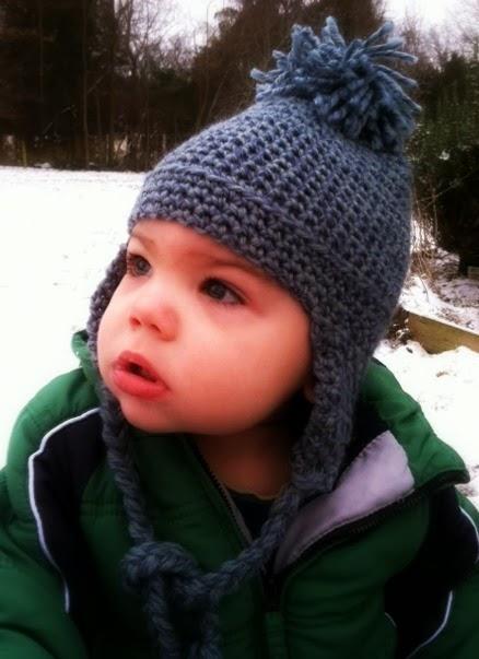Toddler Earflap Hat - Free Crochet Pattern - Amanda Saladin