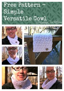 Free Pattern - Simple Versatile Cowl from Designing Crochet by Amanda Saladin. This cowl can be worn in so many ways and is a perfect quick gift. Click to see the pattern or pin and save for later!