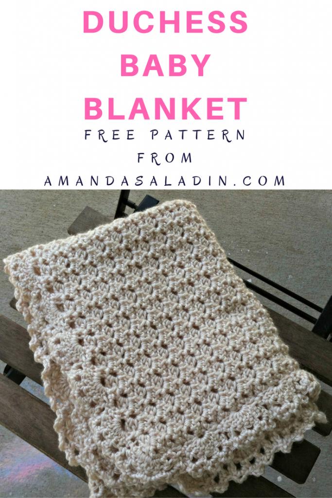 Duchess Baby Blanket Free Crochet Pattern Amanda Saladin