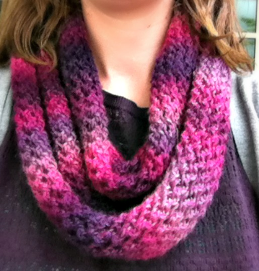 Free Knitting Pattern - Unforgettable One Skein Scarf - Amanda Saladin
