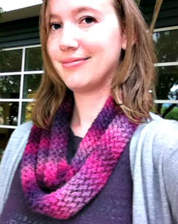 Free Pattern - Unforgettable One Skein Knit Scarf