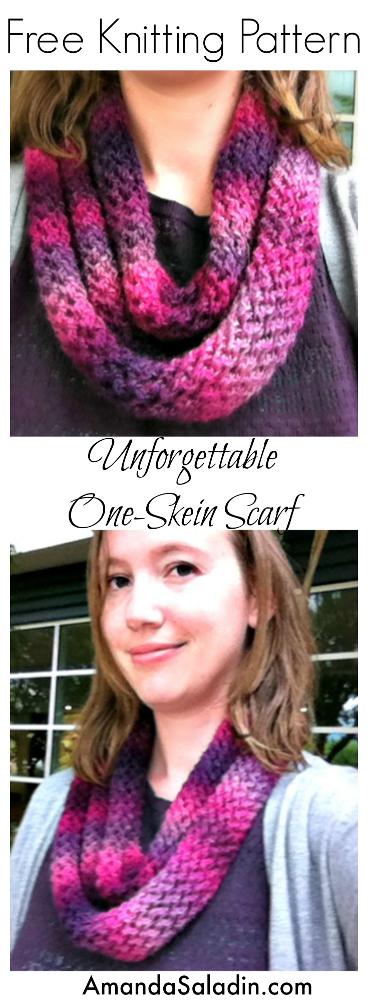 Free Knitting Pattern with an easy-to-remember four row repeat!