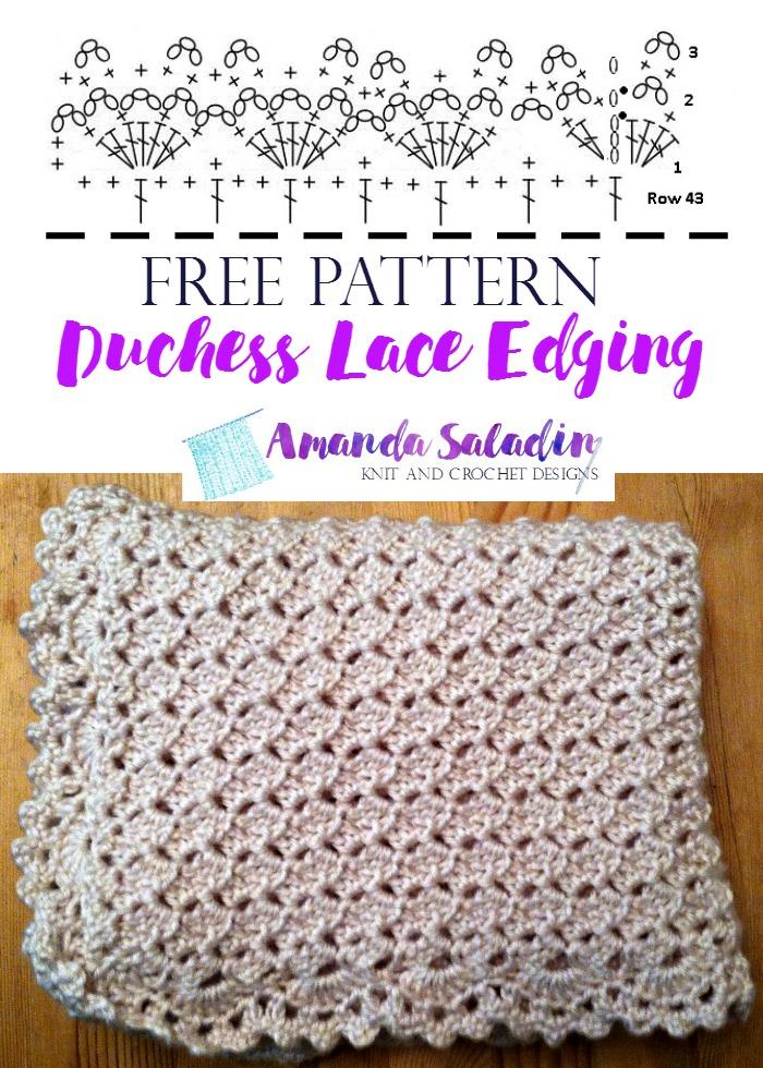 Free Pattern - Duchess Lace Edging by Amanda Saladin