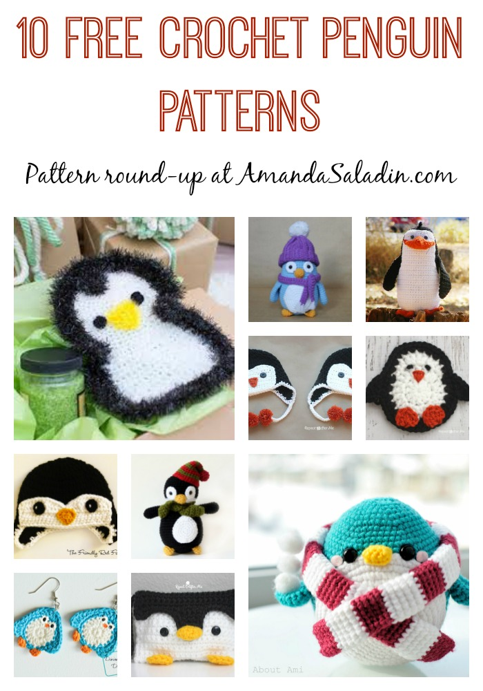 10 Free Crochet Penguin Patterns - Amanda Saladin