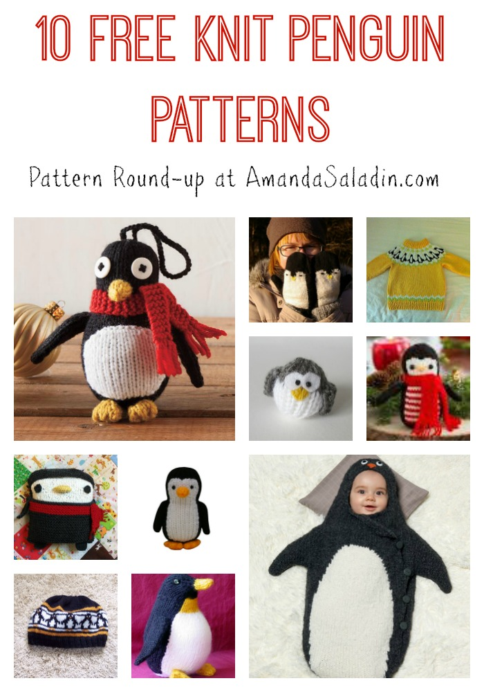 10 Free Knit Penguin Patterns - Amanda Saladin