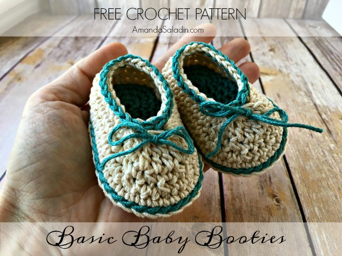 Basic baby booties free crochet pattern amanda saladin free pattern so easy im making these again dt1010fo