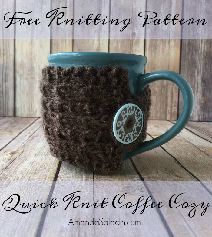 Quick Knit Coffee Cozy - Free Knitting Pattern - Amanda Saladin