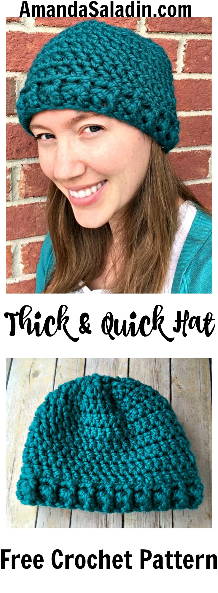Free Crochet Pattern - You can make this in an hour! So easy!