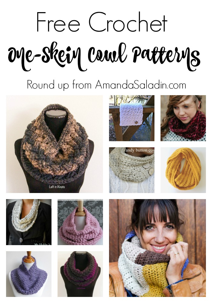 Free Crochet One-Skein Cowl Patterns - Amanda Saladin