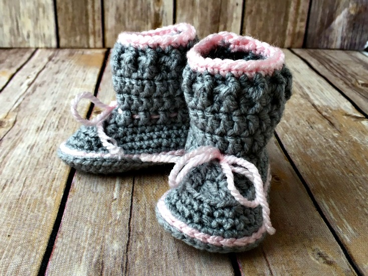 Free Crochet Patterns Baby Rompers : Spring Baby Boots - Free Crochet Pattern - Amanda Saladin