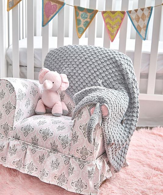 Crochet Pattern For Elephant Blanket : Elephant Blanket - Free Crochet Pattern - Amanda Saladin