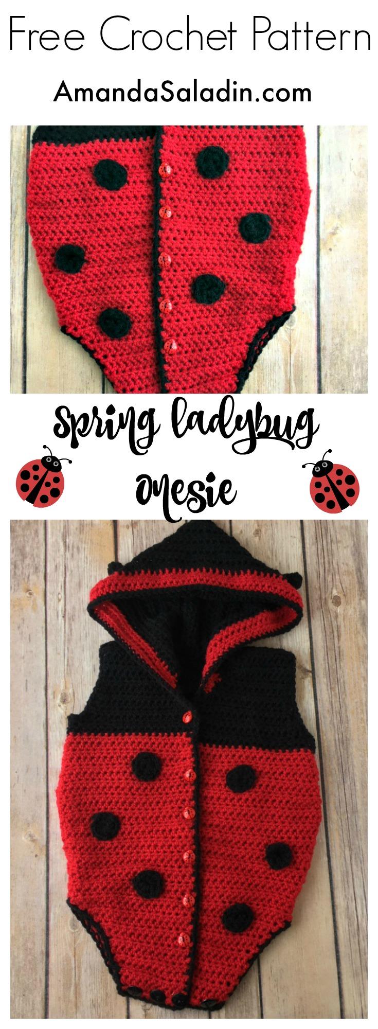 Free Crochet Pattern - Spring Ladybug Onesie