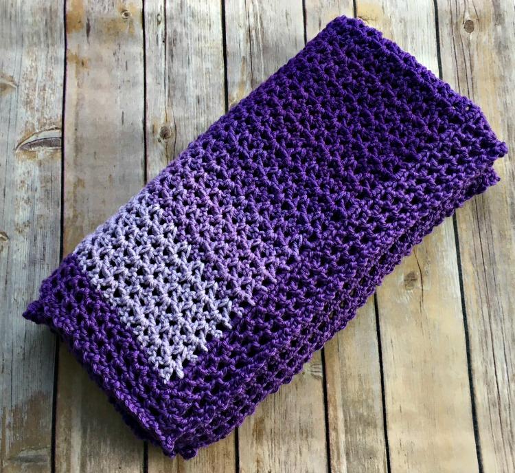 Easy Ombre Baby Blanket - Free Crochet Pattern