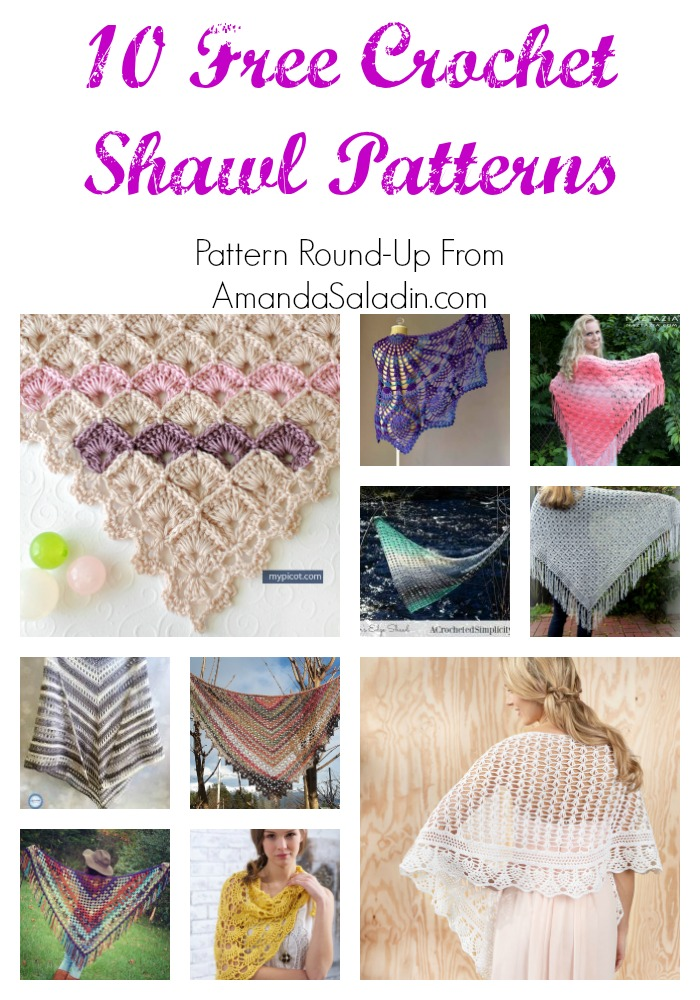 Find your next project with these 10 free crochet shawl patterns!