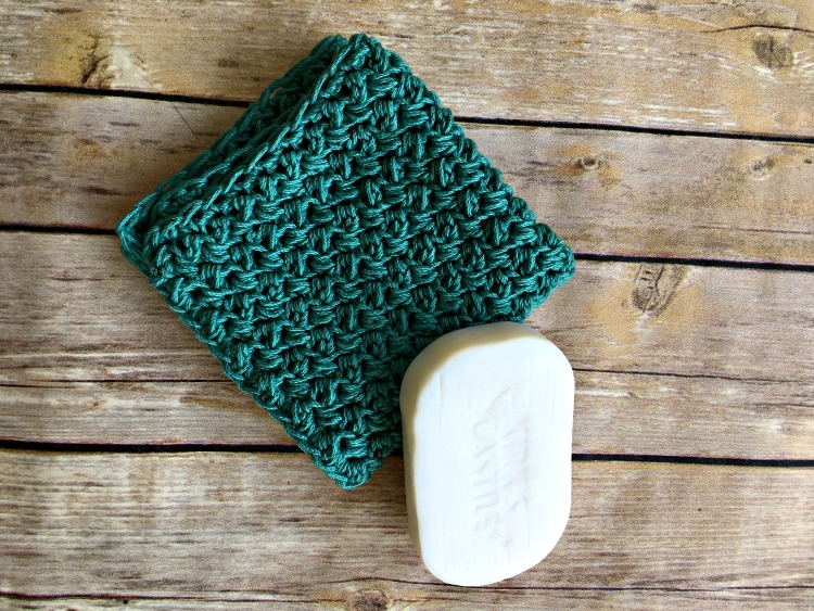 Simple Textured Washcloth Free Crochet Pattern Amanda Saladin