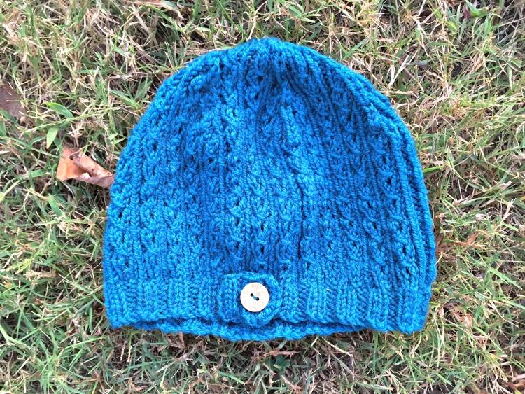 Eyelet Rib Knit Hat