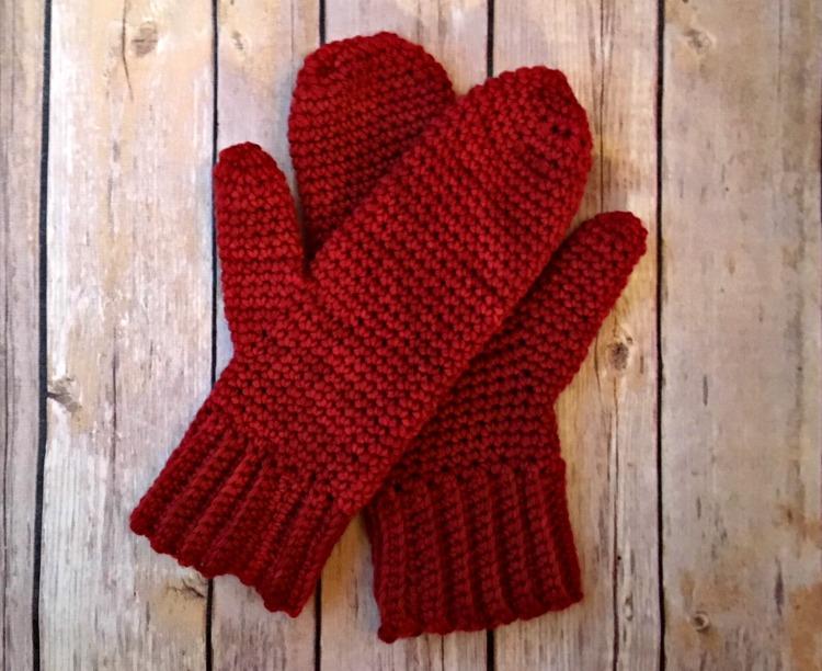 Basic Mittens Free Crochet Pattern Amanda Saladin