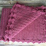 Free Crochet Pattern - Pretty in Pink Heirloom Baby Blanket