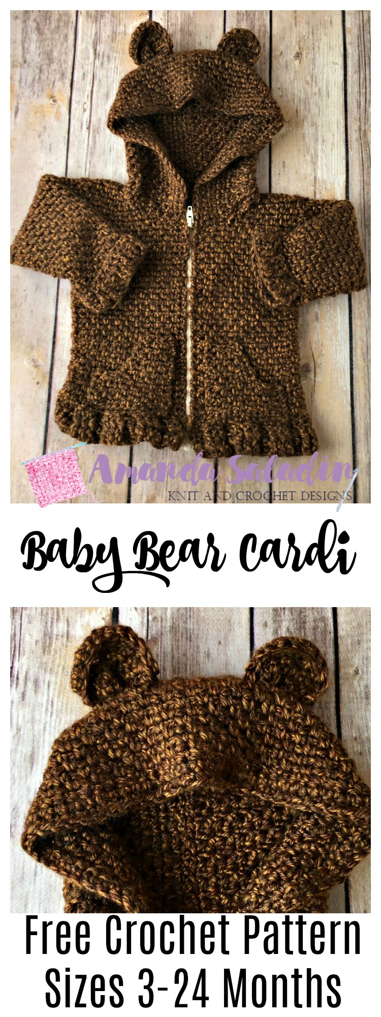 Free Crochet Pattern in Sizes 3-24 months