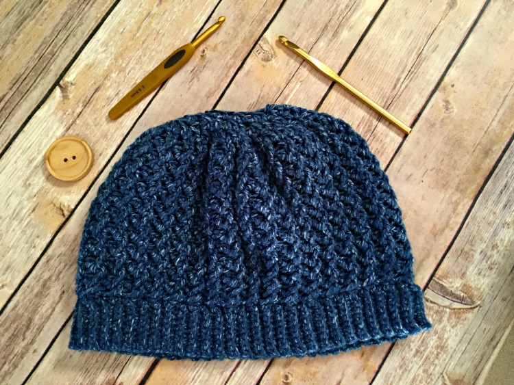 Free Crochet Pattern - Ripple Lace Messy Bun Hat