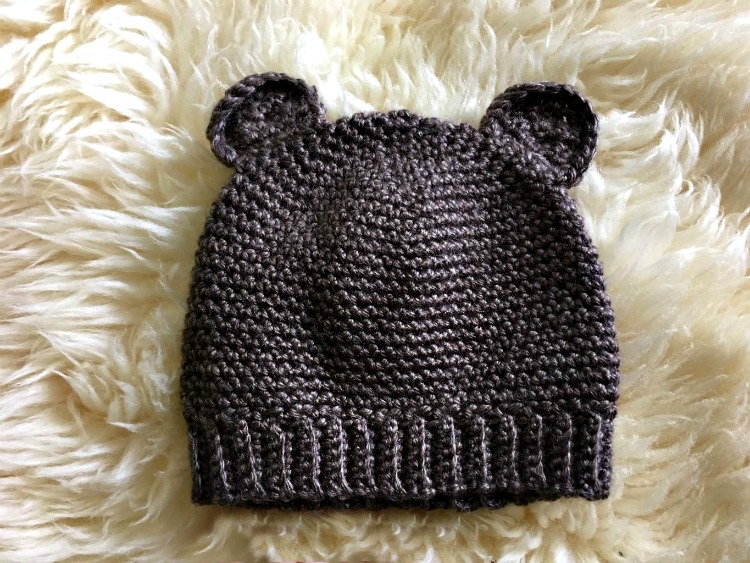 Baby Bear Hat Flat Amanda Saladin