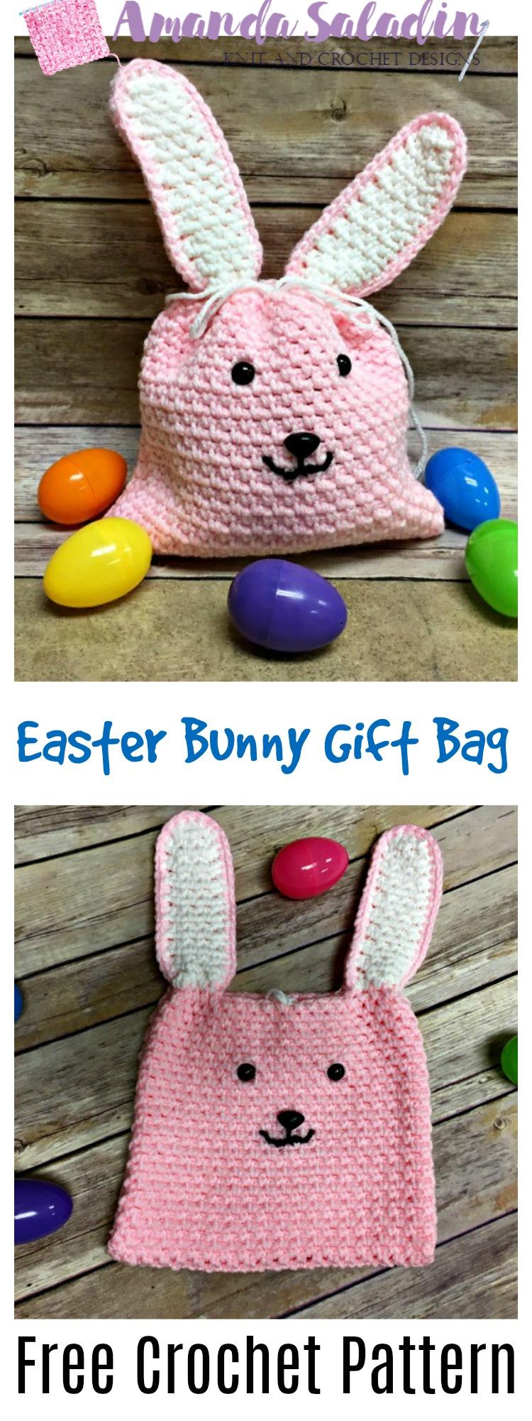 Free Crochet Pattern - Easter Bunny Gift Bag