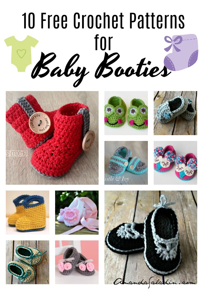 10 Free Crochet Baby Bootie Patterns Amanda Saladin
