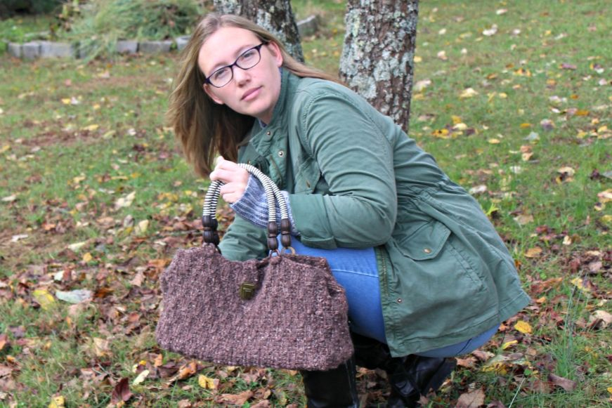 Oat Stitch Handbag- Free Knitting Pattern