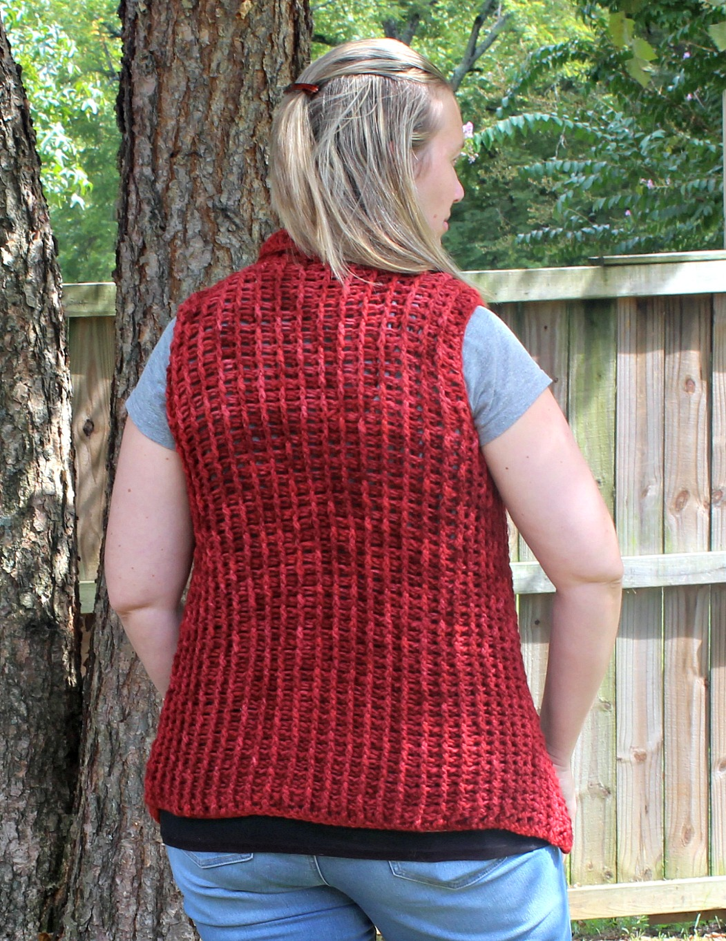 colors of fall vest - free crochet pattern