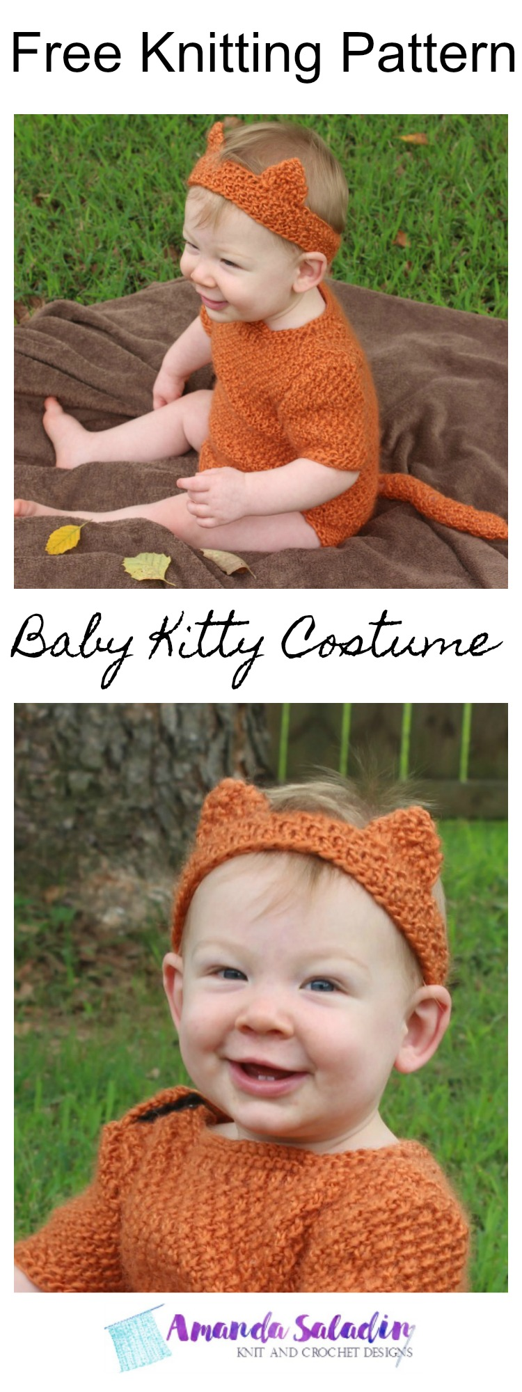 Free Knitting Pattern - Baby Kitty Costume