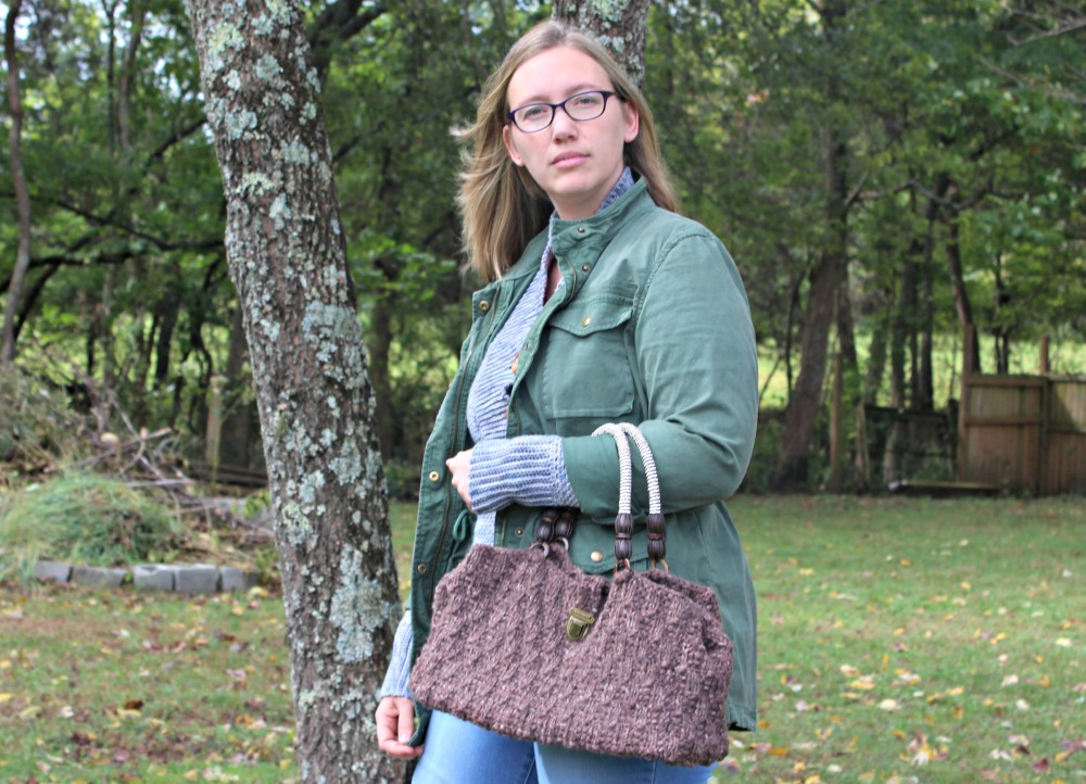 Oat Stitch Handbag - Free Knitting Pattern